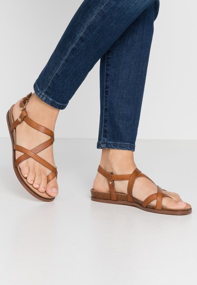 T-bar sandals - brown