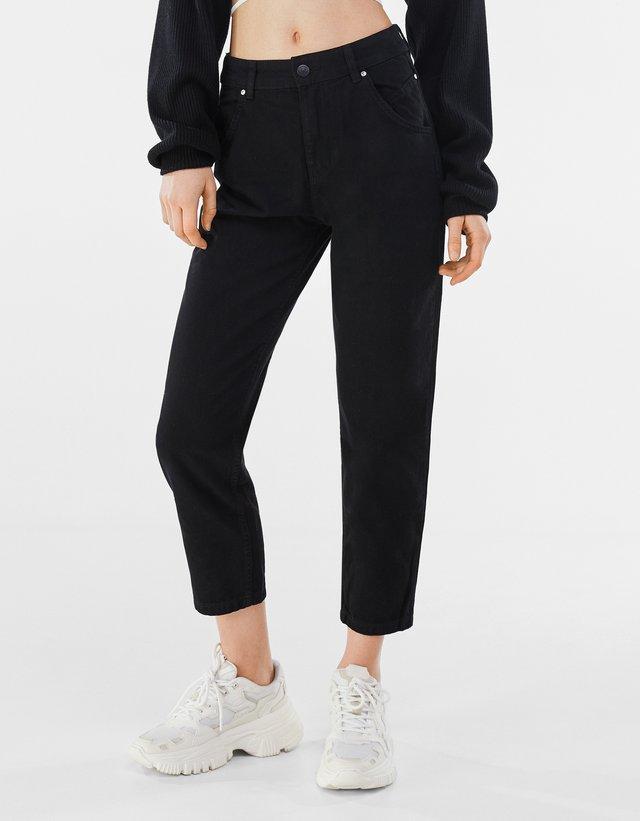 Zúžené džíny - black