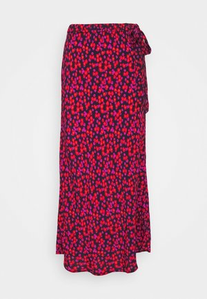 SIDE TIE BIAS MIDI SKIRT - A-line skirt - pink