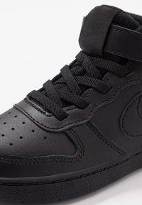 Nike Sportswear - COURT BOROUGH MID UNISEX - Sneakersy wysokie - black - 2