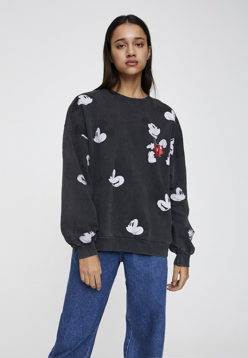 "PULL&BEAR - SWEATSHIRT ""MICKY MAUS"" MIT ALL-OVER PRINT 05596364 - Sweatshirt - mottled dark grey"