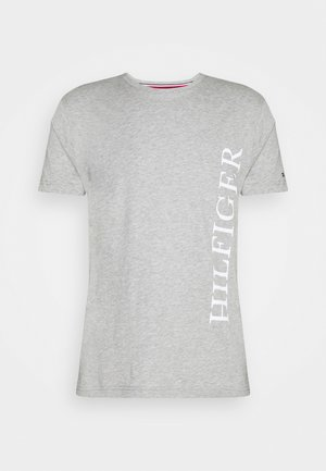 LARGE LOGO TEE - Print T-shirt - grey
