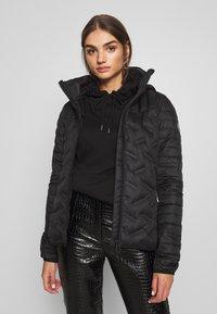 Superdry - ESSENTIALS RADAR JACKET - Down jacket - black - 0