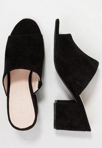 Bianco - BIACATE - Heeled mules - black - 3