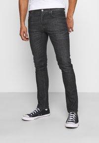 Nudie Jeans - GRIM TIM - Džíny Slim Fit - black pixel - 0