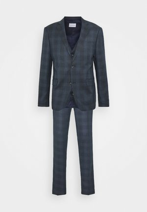 BLUE CHECK 3 PCS SUIT - Traje - navy