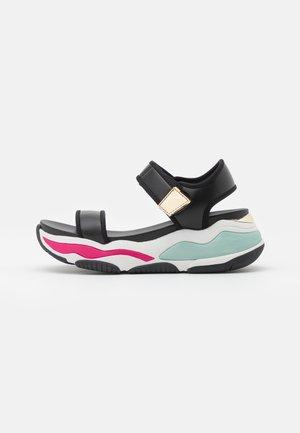 ADWEAVEN - Platform sandals - black