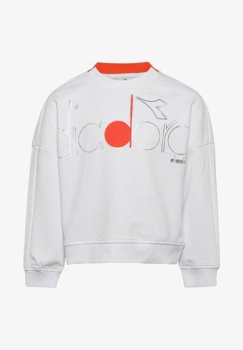CREW LOGO MANIA UNISEX - Sweatshirt - bianco ottico
