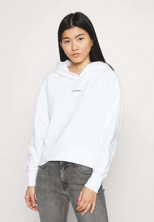 MICRO BRANDING HOODIE - Bluza - bright white