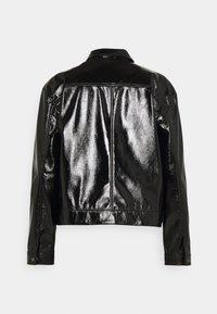 Noisy May - NMCRINKEL SHORT JACKET - Faux leather jacket - black - 1