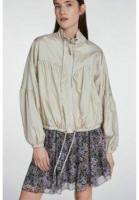 SET - A-line skirt - black violett - 4