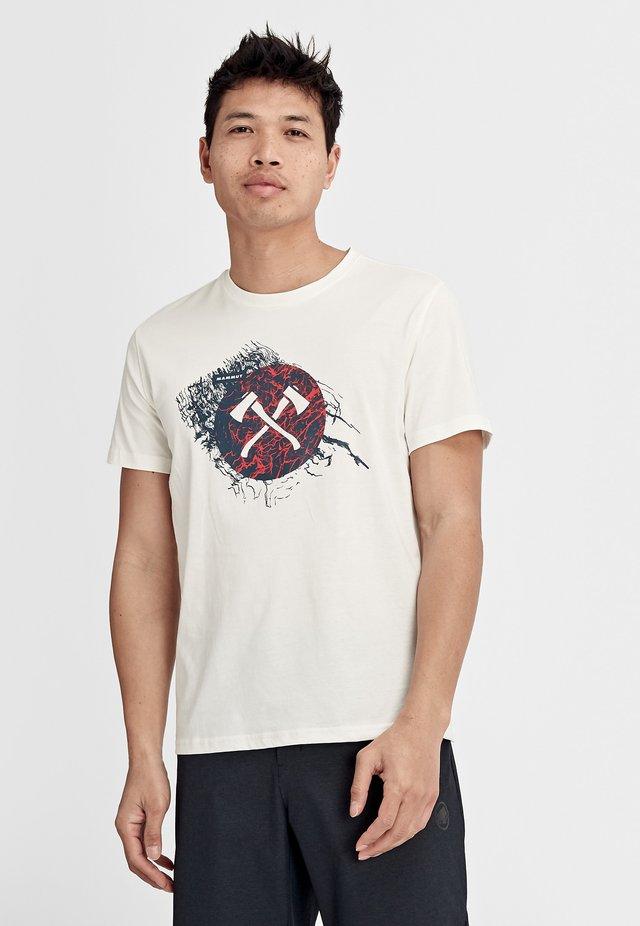 SEILE - T-shirt imprimé - bright white prt