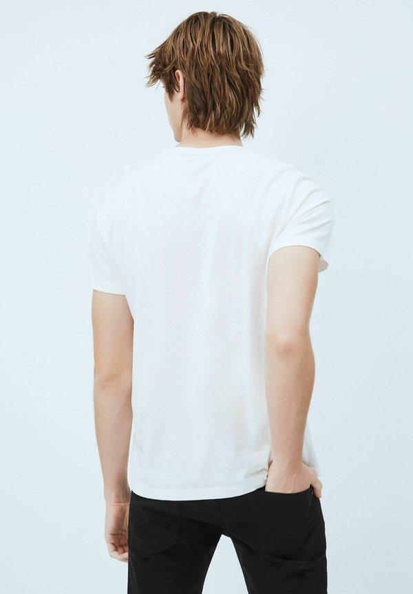 Pepe Jeans T-shirt z nadrukiem - blanco off/mleczny Odzież Męska NIAL