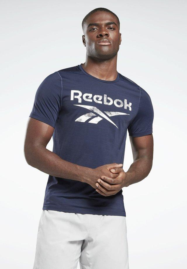 WORKOUT READY ACTIVCHILL - T-shirt print - blue
