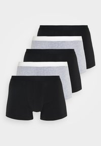Pier One - 5 PACK - Boxerky - black/mottled grey - 0