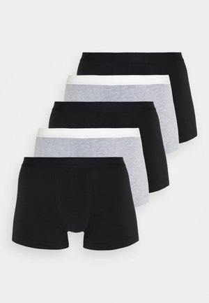 5 PACK - Pants - black/mottled grey