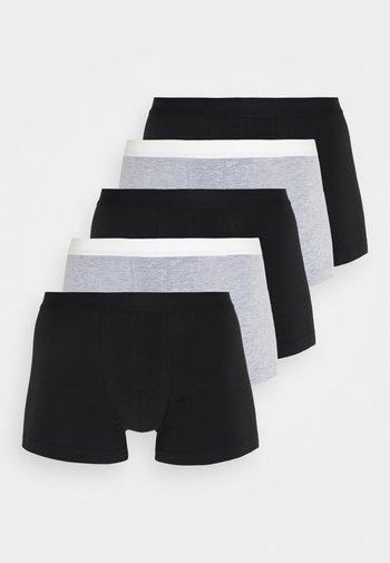 5 PACK - Boxerky - black/mottled grey
