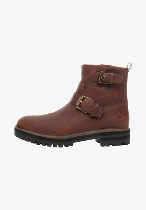 LONDON SQUARE - Cowboy/biker ankle boot - brown