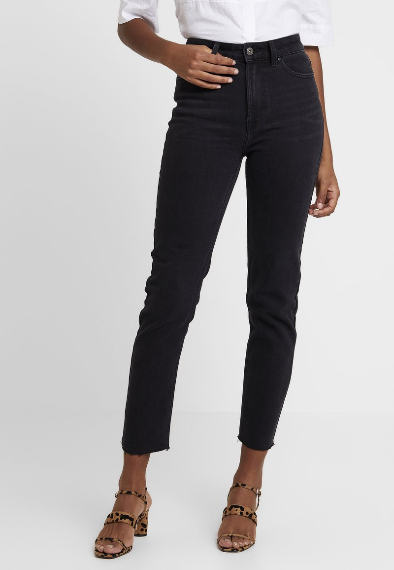 ONLY - ONLEMILY RAW - Jeansy Skinny Fit - black denim