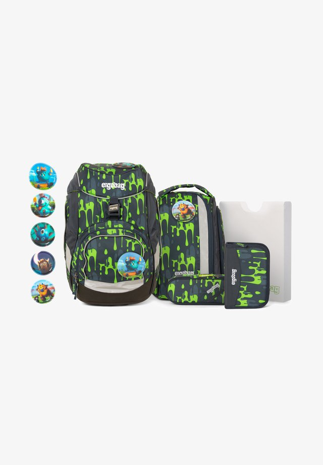 SET - Schooltas set - mottled light green