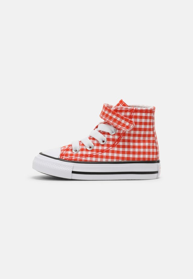 CHUCK TAYLOR ALL STAR GINGHAM HI UNISEX - High-top trainers - bright poppy/white/black
