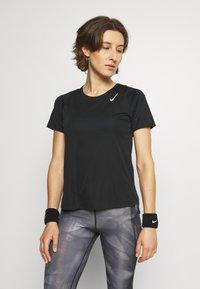 Nike Performance - RACE - Basic T-shirt - black/silver - 0