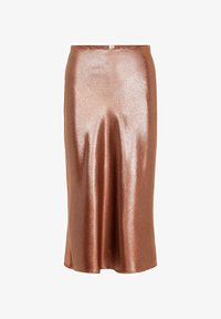 Pieces - Pleated skirt - root beer - 4