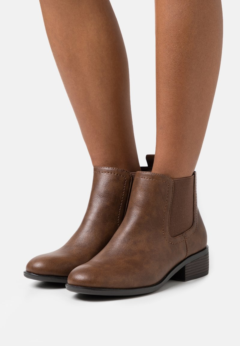 Dorothy Perkins Wide Fit - WIDE FIT MAPLE CHELSEA  - Ankle boots - tan