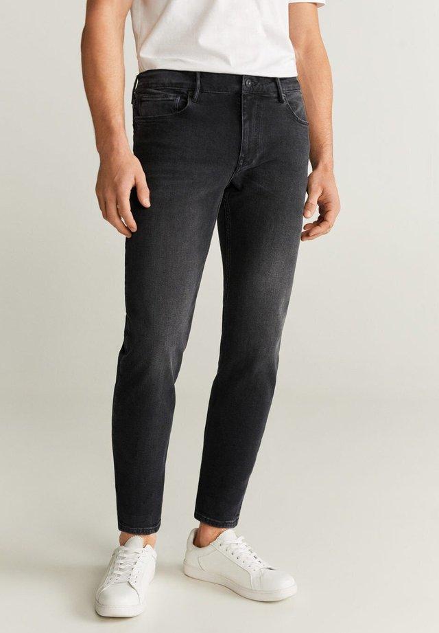 STEVE - Slim fit jeans - black denim
