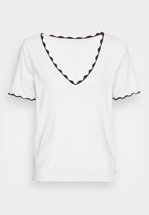 KADY  - Basic T-shirt - ecru/noir