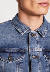 TOM TAILOR DENIM - STRETCH JACKET - Denim jacket - blue denim - 4