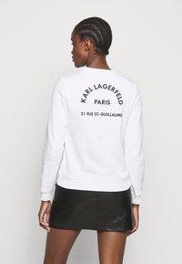 KARL LAGERFELD - ADDRESS LOGO - Sweatshirt - white - 2