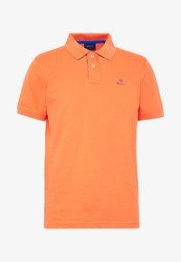 CONTRAST COLLAR RUGGER - Koszulka polo - coral orange