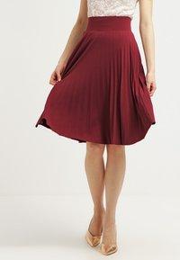 Anna Field - A-line skirt - burgundy - 0