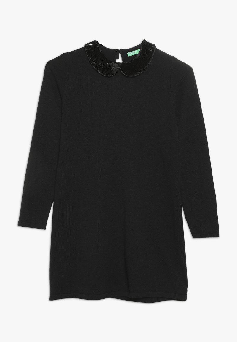 Benetton - DRESS - Pletené šaty - dark blue