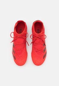 adidas Performance - PREDATOR FREAK .3 FG UNISEX - Korki Lanki - red - 3