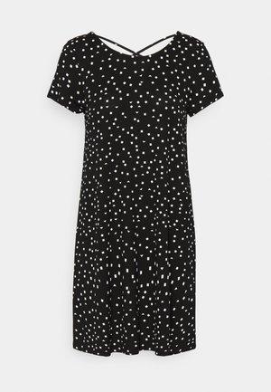 ONLBERA BACK LACEUP DRESS - Jerseykjole - black