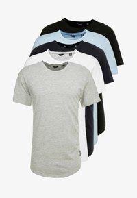 Only & Sons - ONSMATT  5 PACK - T-shirt - bas - black/white/blue - 6