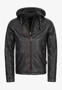 INDICODE JEANS - ECKROTE - Faux leather jacket - black - 5