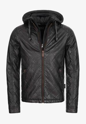 ECKROTE - Faux leather jacket - black