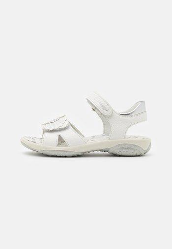 Sandals - latte/argento