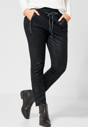 GLITZERNDE - Tracksuit bottoms - black