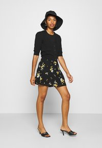 Even&Odd - BASIC - Mesh mini skirt - A-line skirt - black/multi-coloured - 1