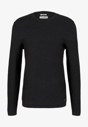 Sweatshirt - navy black mouline