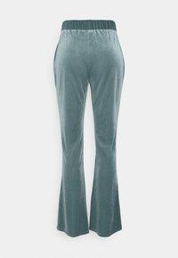 Vila - VIVELVETTA FLARED PANT - Tracksuit bottoms - goblin blue - 1