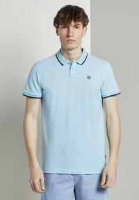 TOM TAILOR DENIM - Polo shirt - soft sky blue melange - 1