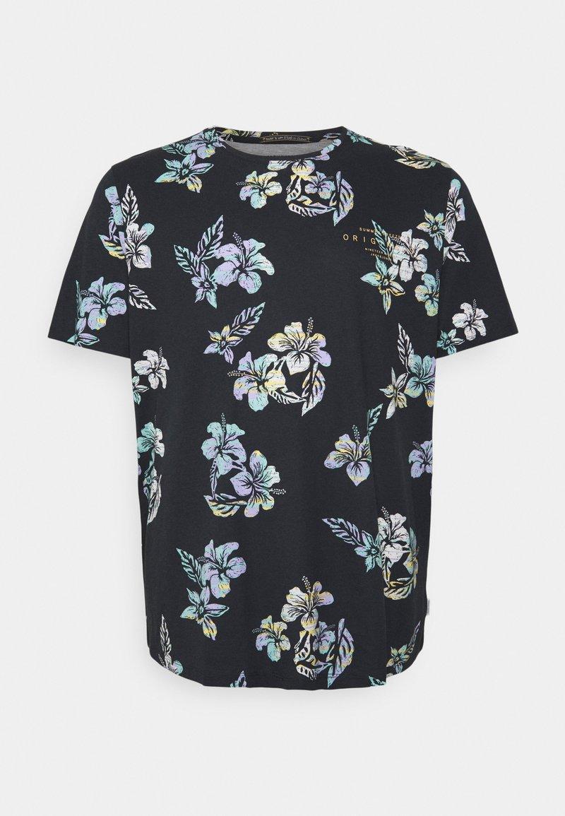 Jack & Jones - JORHAZY TEE CREW NECK - T-shirt med print - dark navy