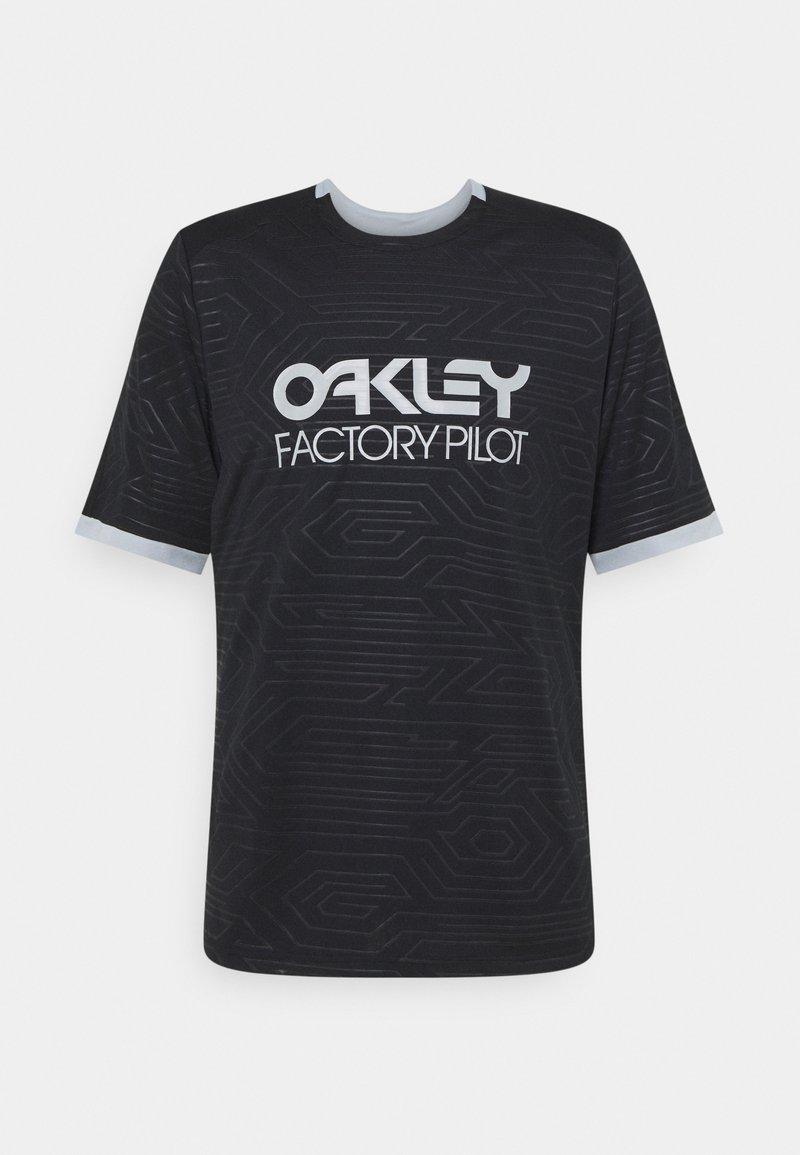 Oakley - PIPELINE TRAIL TEE - Print T-shirt - blackout