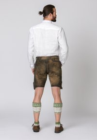 Stockerpoint - JAKOB - Leather trousers - green - 2