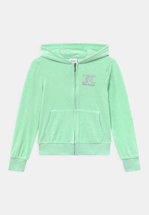 ZIP THROUGH HOODIE - Zip-up sweatshirt - mist green